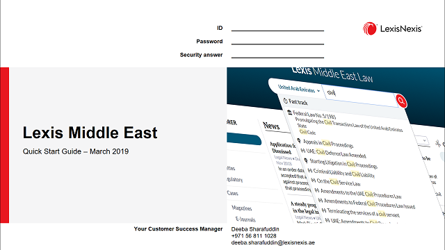 Lexis Middle East – Training and Support