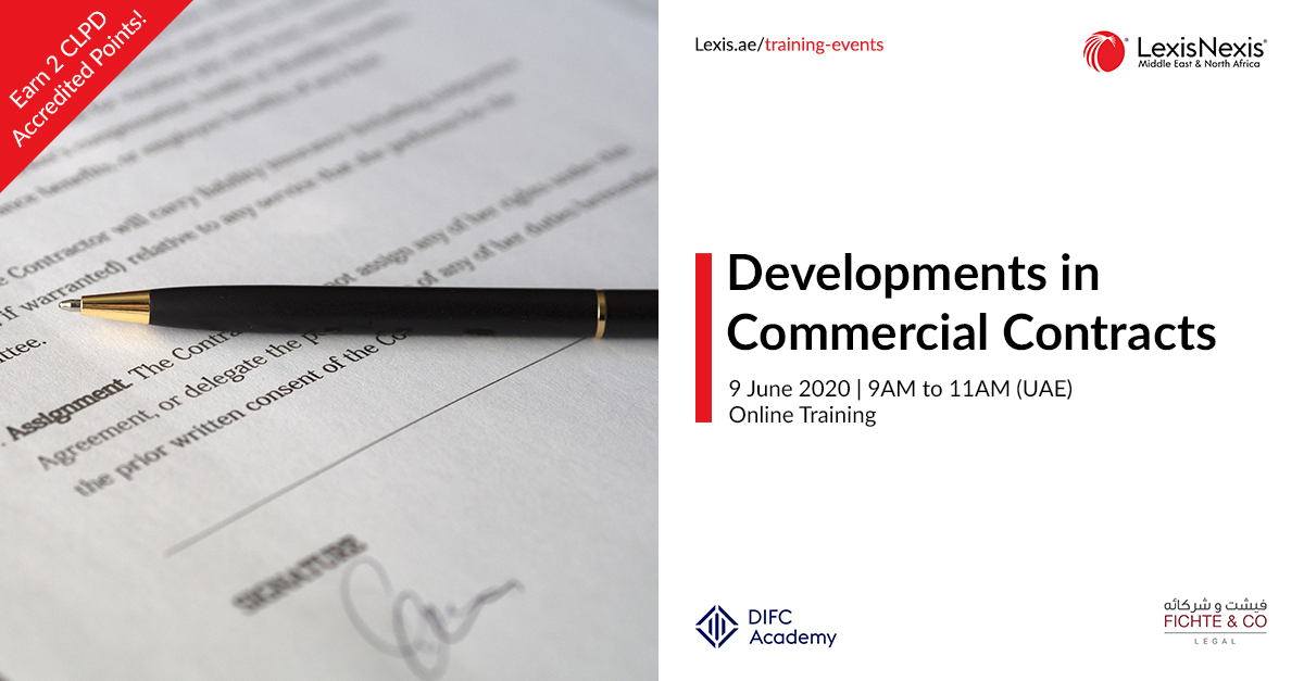 Developments in Commercial Contracts | 9 June 2020, Online Training