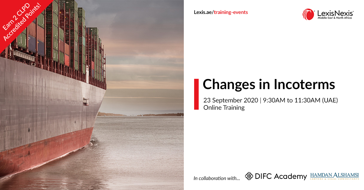 Changes in Incoterms   Online Training   23 September 2020   09:30AM to 11:30AM