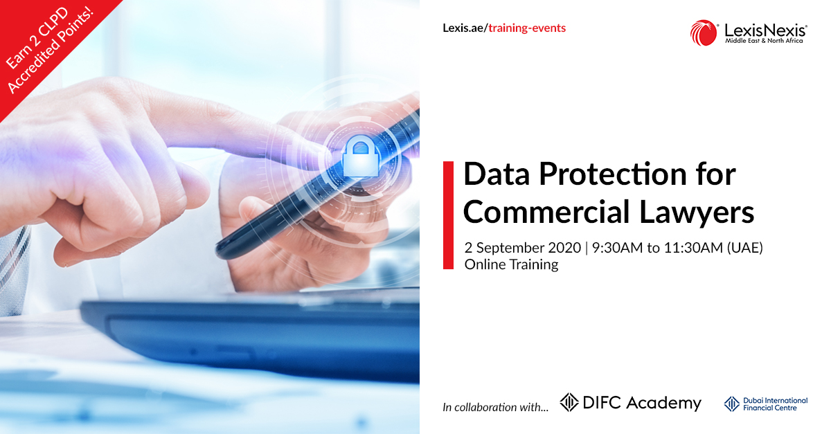 Data Protection for Commercial Lawyers   Online Training   2 September 2020   09:30AM to 11:30AM