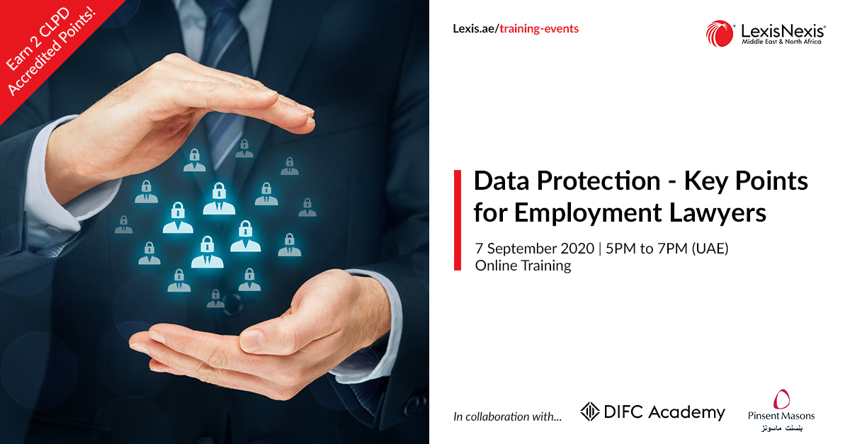 Data Protection – Key Points for Employment Lawyers | Online Training | 7 September 2020 | 5PM to 7PM