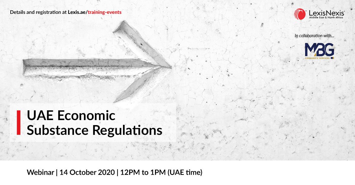 Webinar | UAE Economic Substance Regulations | 14 October 2020 | 12PM to 1PM