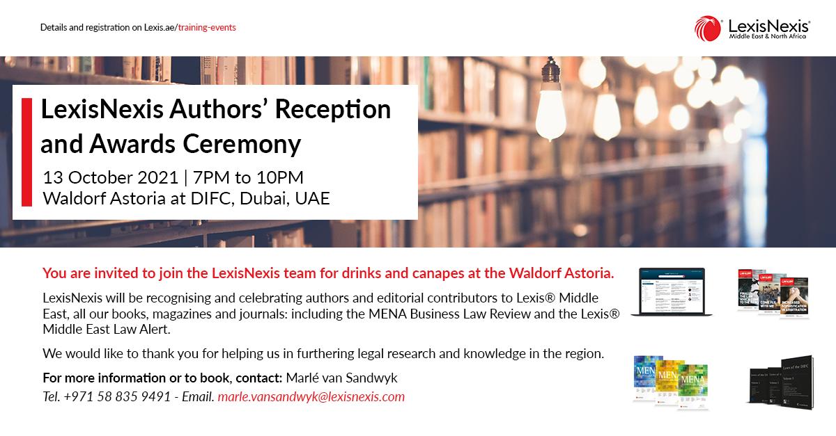 LexisNexis Authors' Reception and Awards Ceremony Winners